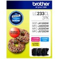 Brother LC233CLVP 3 Colour Ink Set C,M,Y