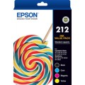 EPSON C13T02R692 Value Pack 212 Ink Set for WF2810  WF2830 WF2850 XP2100 XP3100