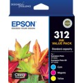 Epson C13T182892 Cyan,Magenta,Yellow VP Ink 312 for Expression Photo XP-15000