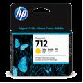 Hewlett Packard HP-712 Yellow Ink cartridge for t230 t250 t650